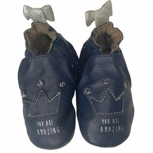 """Robeez """"you are amazing"""" soft sole leather shoes"""
